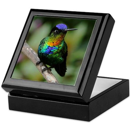 Fiery-Throated Hummingbird Photo Keepsake Box