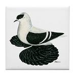 Swallow Saxon Fullhead Pigeon Tile Coaster