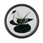 Swallow Saxon Fullhead Pigeon Large Wall Clock