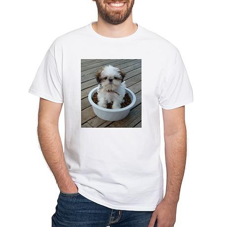 Shih Tzu Puppy White T-Shirt