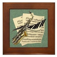 Music Design Framed Tile