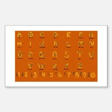 morse code Sticker (Rectangle)