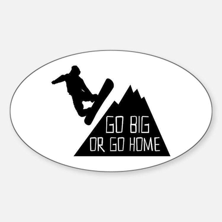 Go Big Snowboarder Stickers