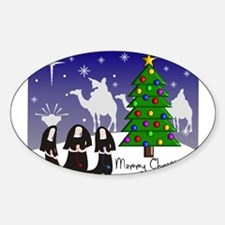 Catholic Nuns Christmas Decal