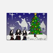 Catholic Nuns Christmas Rectangle Magnet