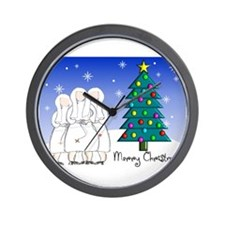 Catholic Nuns Christmas Wall Clock