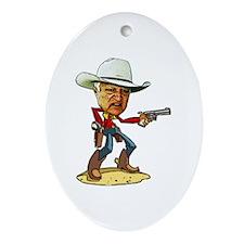 Cute Cowboys Ornament (Oval)