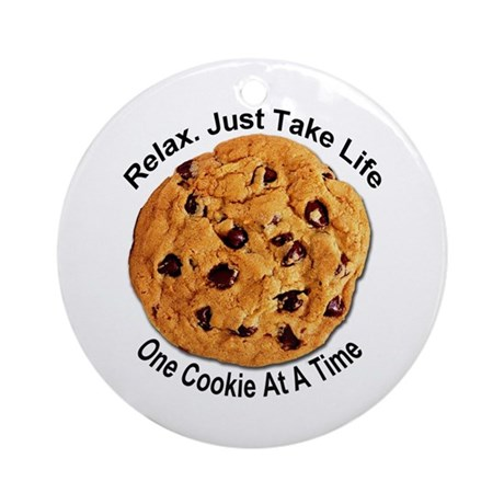"""""""One Cookie"""" Ornament (Round)"""
