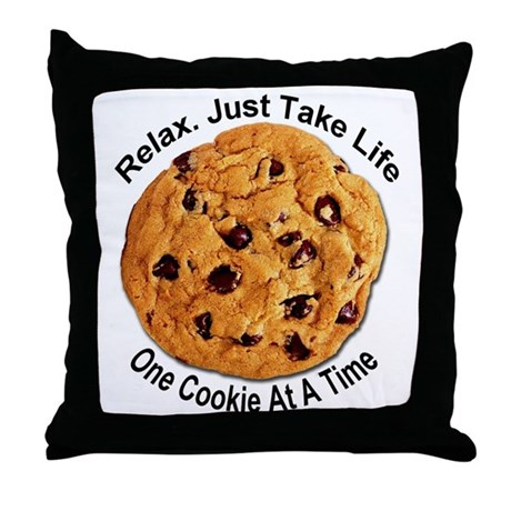"""One Cookie"" Throw Pillow"