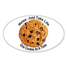 """One Cookie"" Oval Decal"