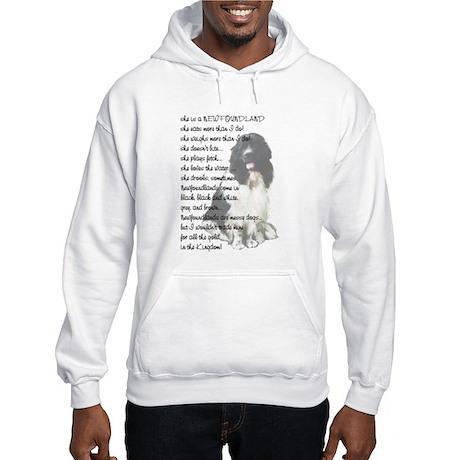 Newfoundland Dog answers Hooded Sweatshirt