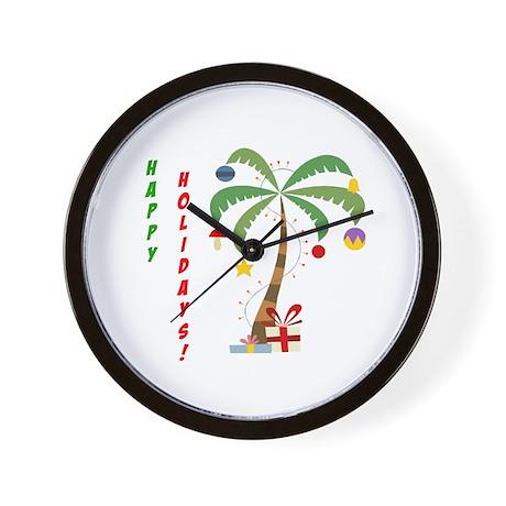 Holiday Palm Tree Wall Clock