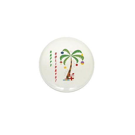 Holiday Palm Tree Mini Button