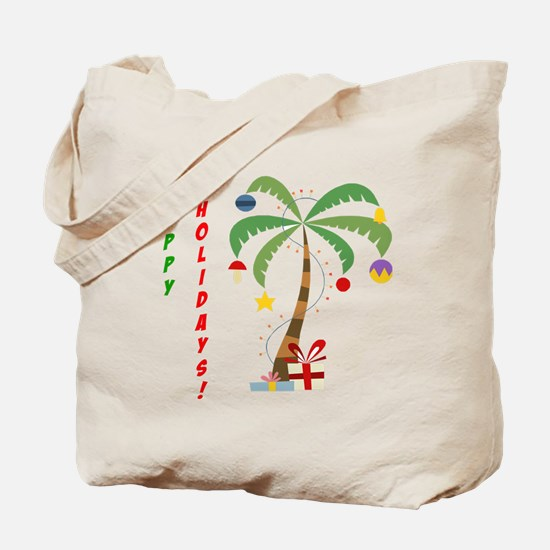 Holiday Palm Tree Tote Bag