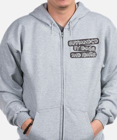 Dogs and Idiots Zip Hoodie