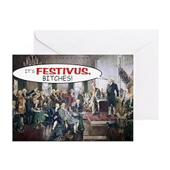 """""""Revolutionary Festivus"""" Cards (Pkg. of"""