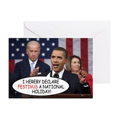 """""""National Holiday"""" Festivus Cards (Pk of"""