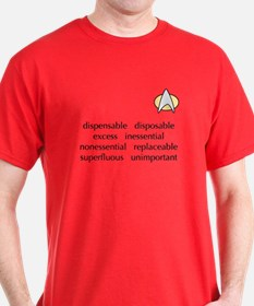 not important red shirt T-Shirt