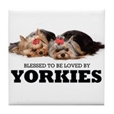 Christmas yorkie Coasters