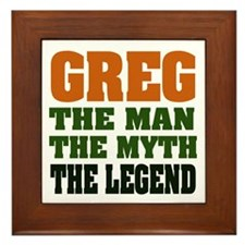 GREG - The Legend Framed Tile