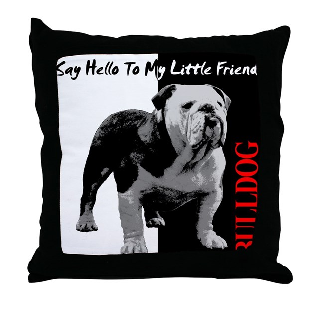 Say Hello To My Little Friend Throw Pillow by bullwrinkle