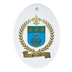 PELLERIN Family Crest Oval Ornament