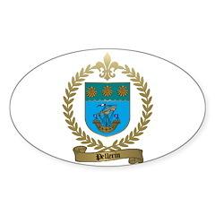 PELLERIN Family Crest Oval Decal