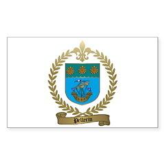 PELLERIN Family Crest Rectangle Decal