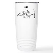 'Funny Life' Ceramic Travel Mug