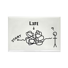 'Funny Life' Rectangle Magnet