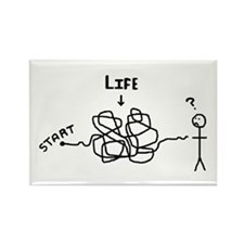 'Funny Life' Rectangle Magnet (10 pack)