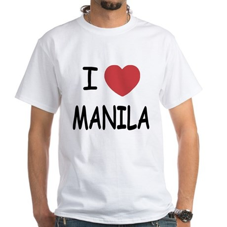 I heart Manila White T-Shirt