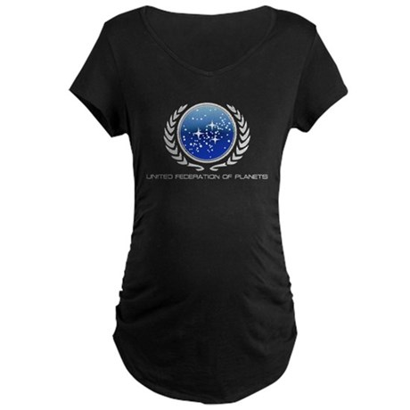 United Federation of Planets Maternity Dark T-Shir