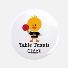 "Table Tennis Chick 3.5"" Button"