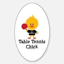 Table Tennis Chick Decal