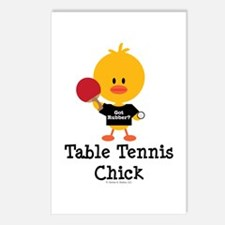 Table Tennis Chick Postcards (Package of 8)