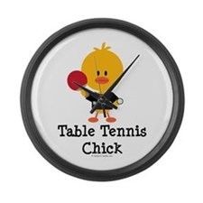 Table Tennis Chick Large Wall Clock