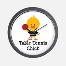 Table Tennis Chick Wall Clock