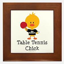 Table Tennis Chick Framed Tile