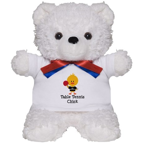 Table Tennis Chick Teddy Bear