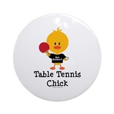 Table Tennis Chick Ornament (Round)