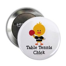 "Table Tennis Chick 2.25"" Button"