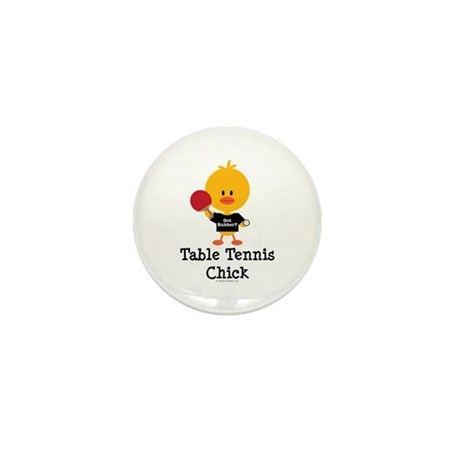 Table Tennis Chick Mini Button (100 pack)