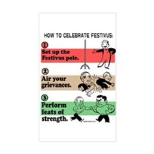 The Steps of Festivus Decal