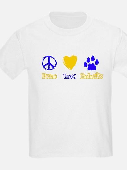 Bobcat Peace Love Tshirt copy T-Shirt