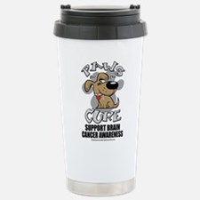 Brain Cancer Paws for the Cur Travel Mug