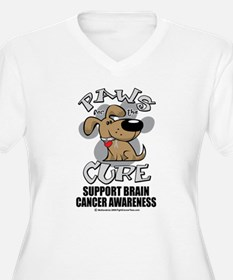 Brain Cancer Paws for the Cur T-Shirt