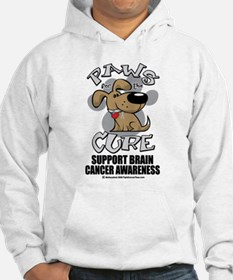 Brain Cancer Paws for the Cur Hoodie