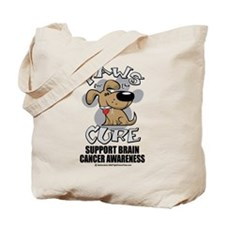 Brain Cancer Paws for the Cur Tote Bag