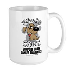 Brain Cancer Paws for the Cur Mug